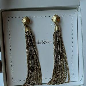 Stella & Dot fringe tassel earrings